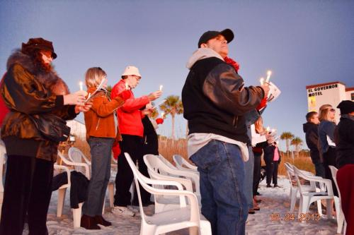 Christmas Eve Candlelight Sunset Service on the Beach